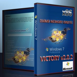 Windows 7 x86 Professional Victory 2.0.2 [256 LUX] (2010/RUS)